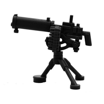 Minifig Block Heavy Machine Gun with Tripod - Heavy Weapon