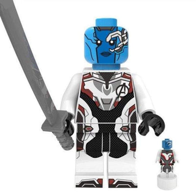 Minifig Blue Assassin White Uniform - Minifigs