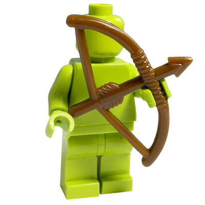 Minifig Brown Bow and Arrow - Archery