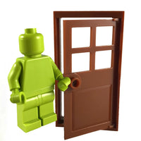 Minifig Brown Door and Frame - Dioramas