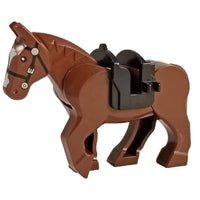 Minifig Brown Horse with Saddle - Animals