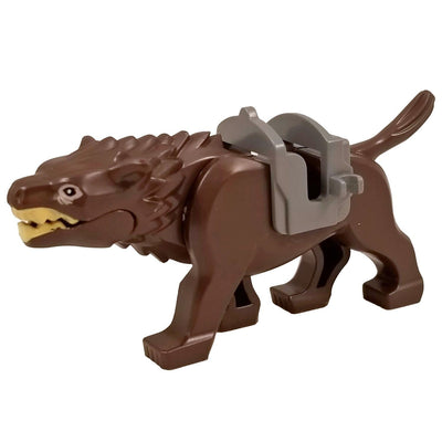 Minifig Brown Wolf Warg - Animals