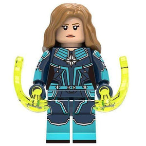Minifig Captain Danvers Blue Uniform - Minifigs