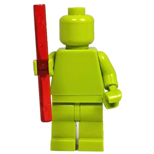 Minifig Clear Rods \ Laser Sword Blades - Red - Sword
