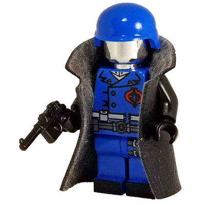 Minifig Cobra Commander with Black Jacket