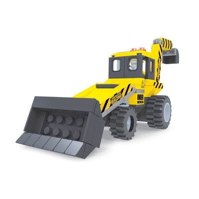 Minifig Construction Compact Backhoe Set (146 Pieces) - Vehicles