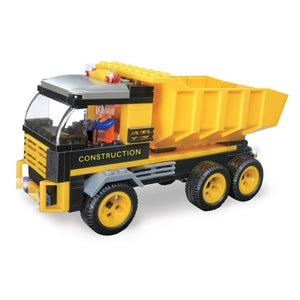 Minifig Construction Dump Truck Set (142 Pieces) - Vehicles
