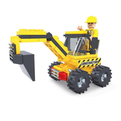 Minifig Construction Mini Excavator Set (79 Pieces) - Vehicles