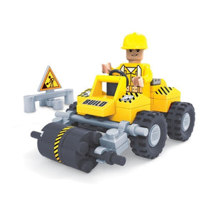 Minifig Construction Mini Steam Roller Set (54 Pieces) - Vehicles