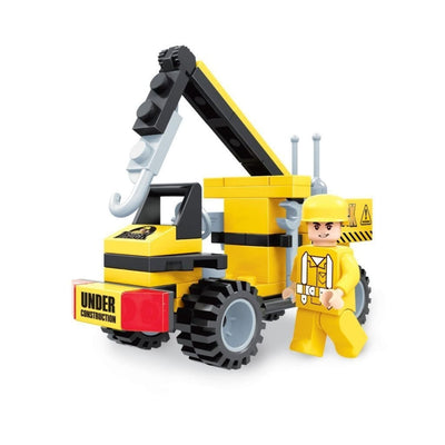 Minifig Construction Small Crane Set (67 Pieces) - Vehicles