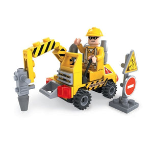 Minifig Construction Small Pneumatic Drill Set (70 Pieces) - Vehicles