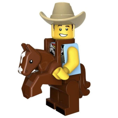 Minifig Cowboy Costume Guy - Minifigs