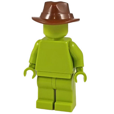 Minifig Cowboy Fedora or Outback Hat BROWN - Headgear