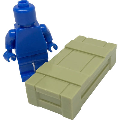 Minifig Crate Green - Dioramas