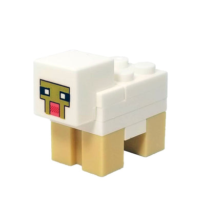 Minifig Cube Head Sheep - Animals