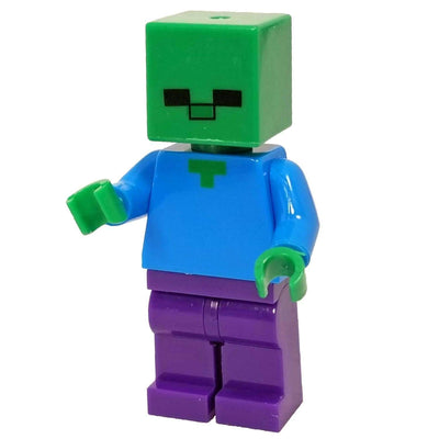 Minifig Cube Head Zombie - Minifigs