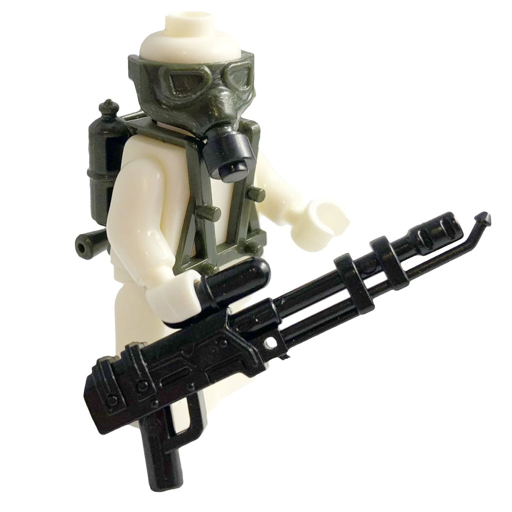 Minifig Dark Green Flamethrower Kit - Heavy Weapon