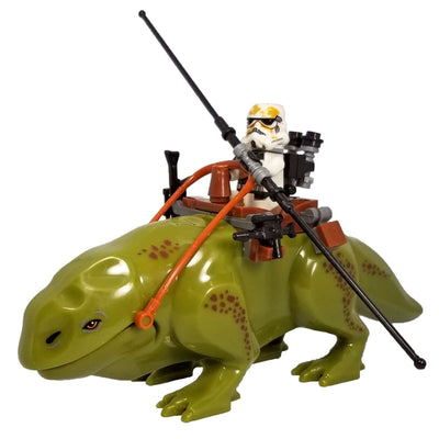 Minifig Desert Space Trooper on Lizard Mount - Animals