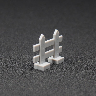 Minifig Fence 10 Pack Gray - Dioramas