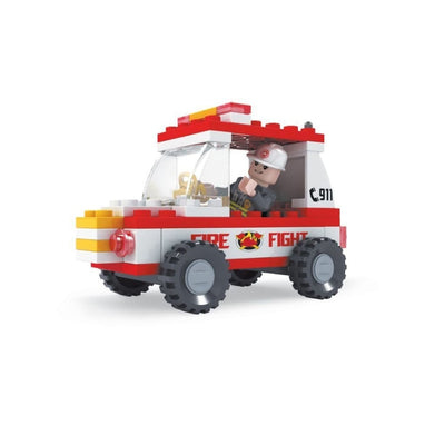 Minifig Fire Rescue 911 Jeep Set (58 Pieces) - Vehicles