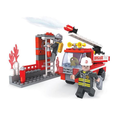 Minifig Fire Truck Simulator Set (133 Pieces) - Vehicles