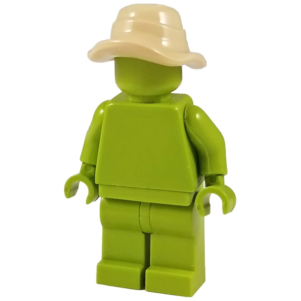 Military Cap Compatible w//toy brick minifig Army Dark Tan Boonie Hat W56