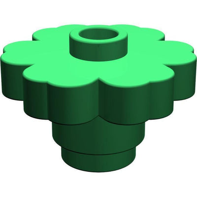 Minifig Flower Accessory Green (1 Piece) - Vegetation