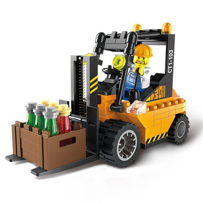 Minifig Forklift with Driver (115 Pieces) - Vehicles
