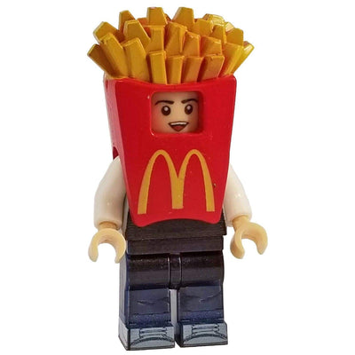 Minifig French Fry Suit Guy - Minifigs
