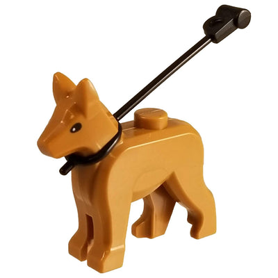 Minifig German Shepherd with Leash - Animals