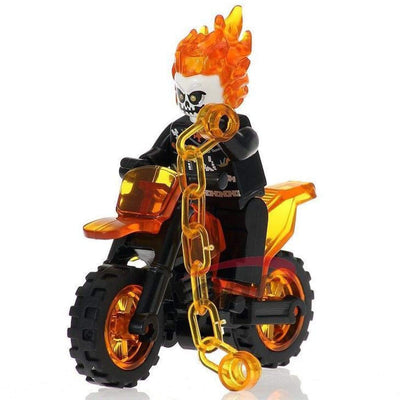 Minifig Ghost Rider on Motorcycle - Minifigs