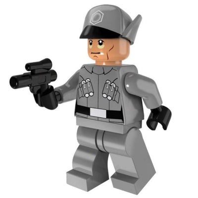 Minifig Gray Uniform Officer - Minifigs