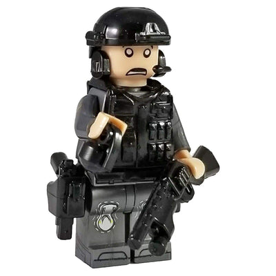 Minifig Grey SWAT Parker - Minifigs