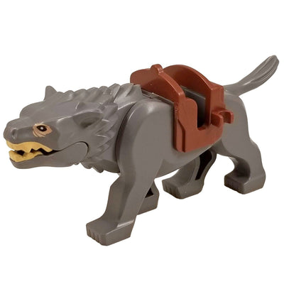 Minifig Grey Wolf Warg - Animals