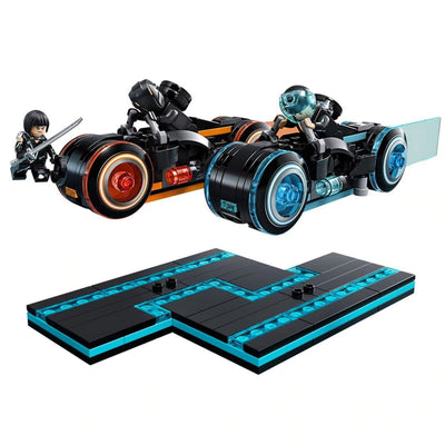 Minifig Grid Warrior Light Cycles Set (248 Pieces) - Motorcycles
