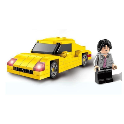 Minifig Han with Yellow Car - Vehicles
