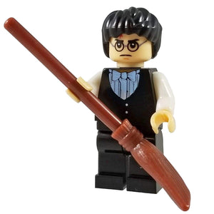 Minifig Harry in Dress Robes with Broom - Minifigs