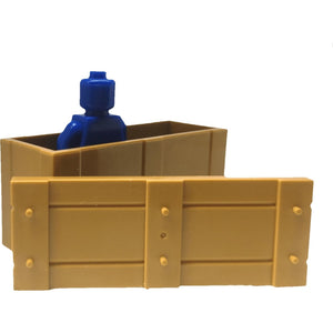 Minifig Large Brown Ammo Crate - Dioramas