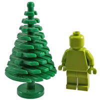 Minifig Large Green Pine Tree (1 Piece ) Vegetation