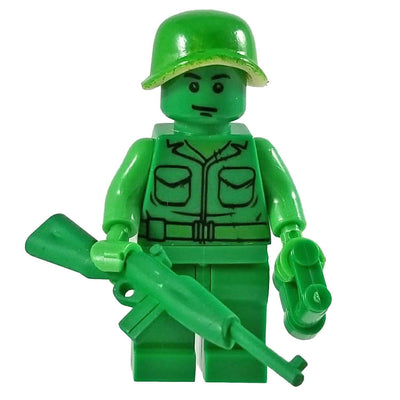 Minifig Little Green Army Man-Brick Forces