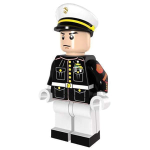 Minifig Marine Dress Blues with White Pants Sergeant - Minifigs