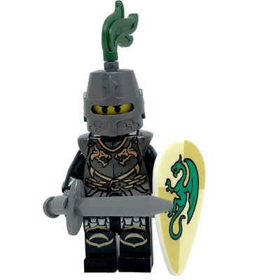 Minifig Medieval Grey Dragon Knight Oval Shield-Brick Forces
