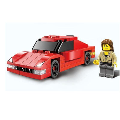 Minifig Mia with Red Car - Vehicles