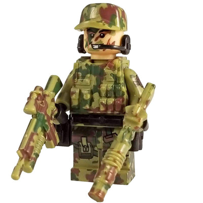 Minifig Modern American Airborne CAMO Squad Carter - Minifigs