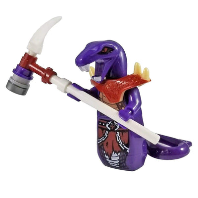 Minifig Monster Snake Warrior - Purple - Minifigs