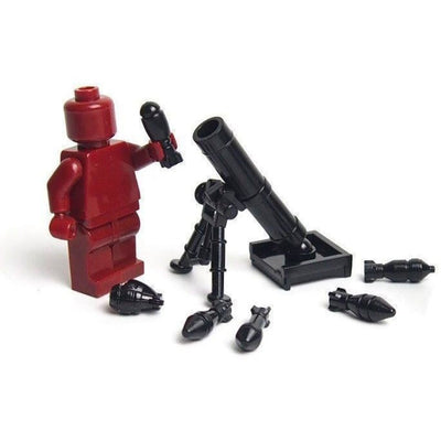 Minifig Mortar Black - Heavy Weapon