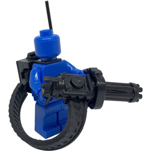 Minifig Mounted or Handheld Minigun - Heavy Weapon