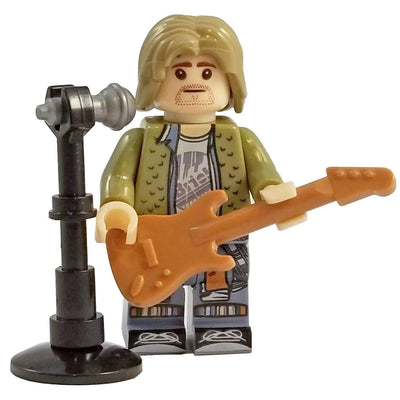 Minifig Musician Grunge Icon Rocker-Brick Forces