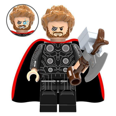 Minifig Norse Mythology Thor with Stormbreaker-Brick Forces