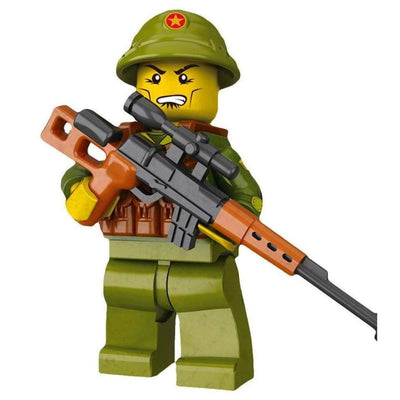 Minifig North Vietnamese Army (NVA) Sniper-Brick Forces